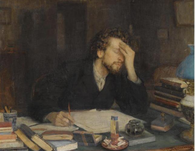 Leonid Pasternak, The Passion of Creation, 19th century.