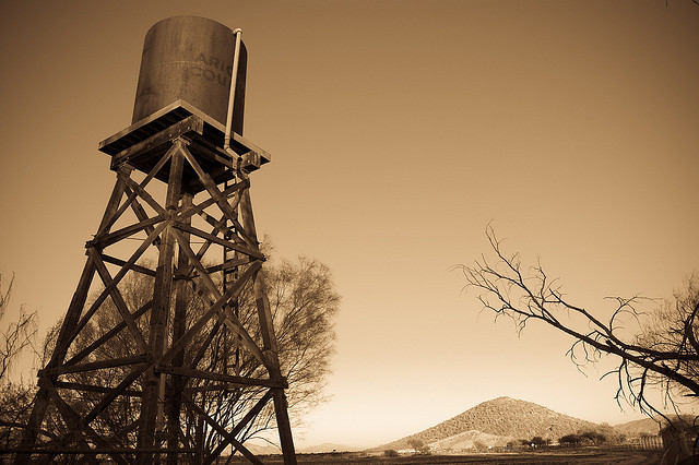 Western water tower, Frank Tellez.
